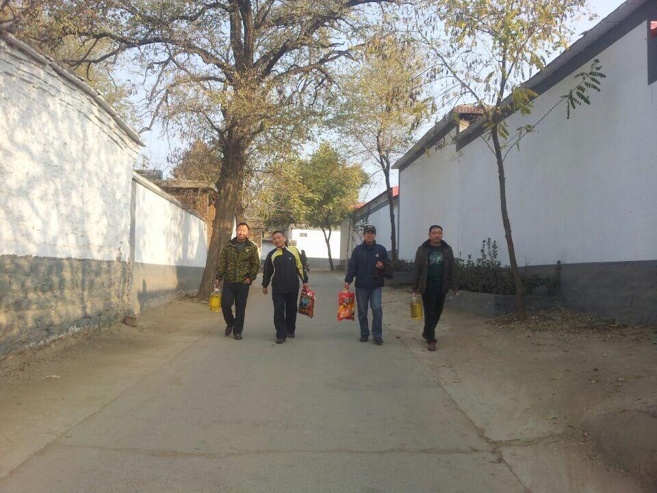 北沟村整洁的街道